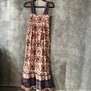 Joie Dresses - Joie Chisuzu Printed Floral Maxi Dress S Smocked